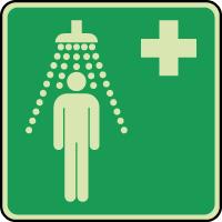 Panneau photoluminescent douche de sécurité