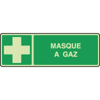 Panneau photoluminescent horizontal masque gaz