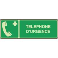 Panneau photoluminescent horizontal téléphone d'urgence