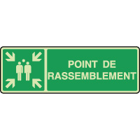 Panneau photoluminescent horizontal point rassemblement