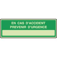 Panneau photoluminescent horizontal prévenir d'urgence