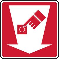 Panneau de sécurité bouton d' alarme incendie