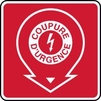 Panneau incendie coupure d'urgence