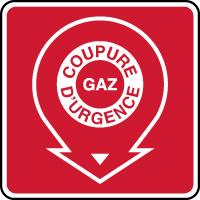 Panneau incendie coupure d'urgence du gaz