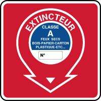 Panneau de sécurité incendie extincteur classe A
