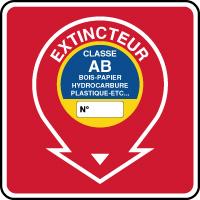 Panneau de sécurité incendie extincteur classe AB