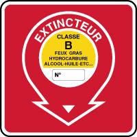 Panneau de sécurité incendie extincteur classe B