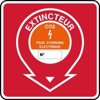 Panneau de sécurité incendie extincteur feux électriques