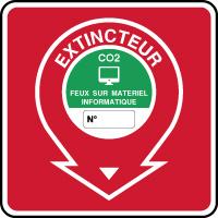 Panneau de sécurité incendie extincteur feux informatiques