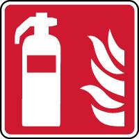 Panneau de sécurité extincteur d'incendie