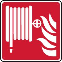 Panneau de sécurité robinet d'incendie armé