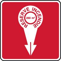 Panneau de sécurité réserve incendie