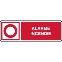 Panneau de sécurité horizontal point alarme incendie