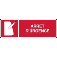 Panneau d'incendie horizontal arrêt d'urgence