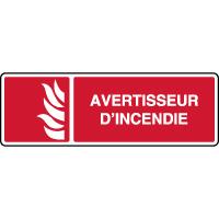 Panneau de sécurité horizontal avertisseur d'incendie