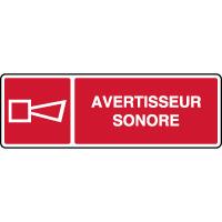 Panneau de sécurité horizontal avertisseur sonore