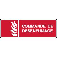 Panneau d'incendie horizontal commande de désenfumage