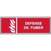 Panneau d'incendie horizontal défense de fumer