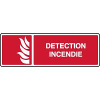Panneau de sécurité horizontal détection incendie