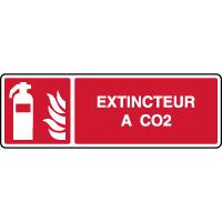 Panneau de sécurité incendie horizontal extincteur à CO2