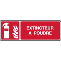 Panneau de sécurité incendie horizontal extincteur à poudre