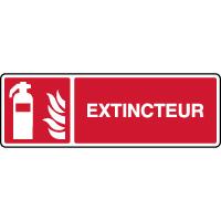 Panneau de sécurité incendie horizontal extincteur