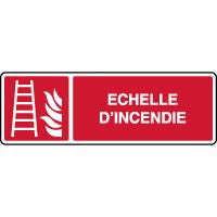 Panneau horizontal échelle d'incendie