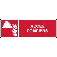 Panneau alarme incendie horizontal accès pompiers