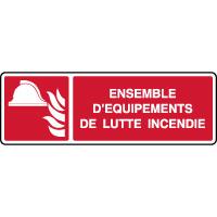 Panneau horizontal alarme équipements de lutte incendie