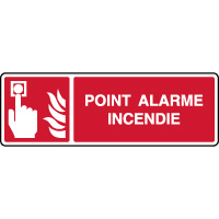Panneau horizontal point alarme incendie ISO 7010