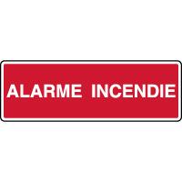 Panneau de sécurité horizontal alarme incendie