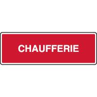 Panneau d'incendie horizontal texte chaufferie