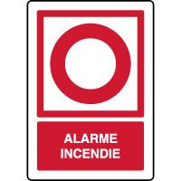 Panneau de sécurité vertical point alarme incendie