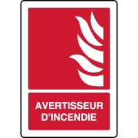 Panneau de sécurité vertical avertisseur d'incendie