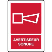 Panneau de sécurité vertical avertisseur sonore