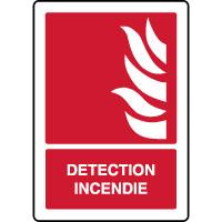 Panneau de sécurité vertical détection incendie