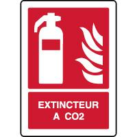 Panneau de sécurité incendie vertical extincteur à CO2