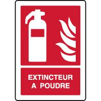 Panneau de sécurité incendie vertical extincteur à poudre