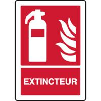 Panneau de sécurité incendie vertical extincteur