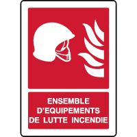 Panneau d'incendie vertical équipements incendie