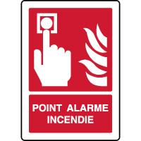 Panneau de sécurité point alarme incendie ISO 7010