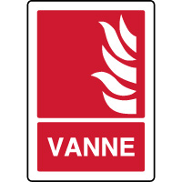 Panneau d'incendie vertical vanne