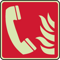 Panneau photoluminescent de sécurité téléphone incendie