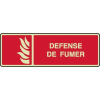 Panneau photoluminescent horizontal défense de fumer