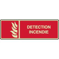 Panneau photoluminescent horizontal détection incendie