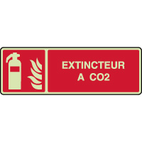 Panneau photoluminescent horizontal extincteur à CO2
