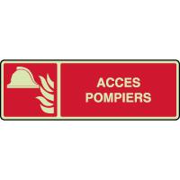 Panneau horizontal photoluminescent alarme accès pompiers