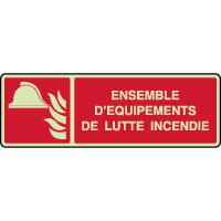 Panneau photoluminescent horizontal équipements incendie
