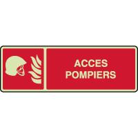 Panneau horizontal photoluminescent accès pompiers