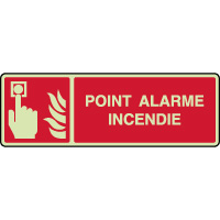 Panneau photoluminescent horizontal point alarme incendie